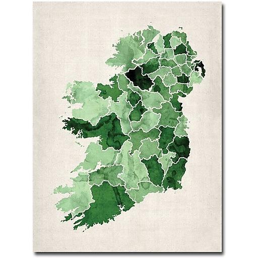 "Trademark Global Michael Tompsett ""Ireland Watercolor"" Canvas Art, 24"" x 18"""