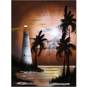 "Trademark Global Conrad ""Lighthouse at Sunrise"" Canvas Art, 24"" x 18"""