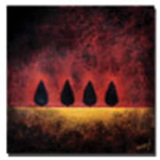 "Trademark Global Nicole Dietz ""On Fire"" Canvas Art, 24"" x 24"""