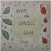 "Trademark Global Nicole Dietz ""Love Bug"" Canvas Art, 18"" x 18"""