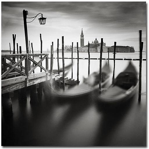 "Trademark Global Nina Papiorek ""Venice Gondolas"" Canvas Art, 35"" x 35"""