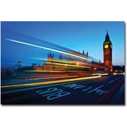"Trademark Global Nina Papiorek ""London, Big Ben"" Canvas Art, 16"" x 24"""