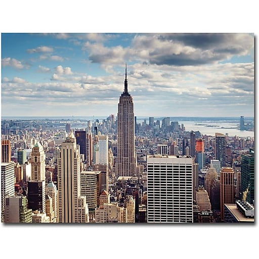 "Trademark Global Nina Papiorek ""Empire View"" Canvas Art, 35"" x 47"""
