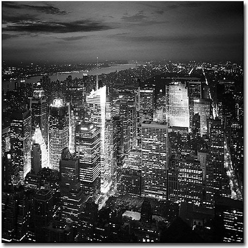 "Trademark Global Nina Papiorek ""Times Square"" Canvas Art, 35"" x 35"""
