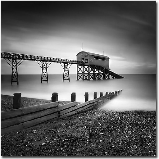 "Trademark Global Nina Papiorek ""Selsey, Lifeboat Station"" Canvas Art, 18"" x 18"""