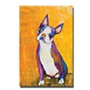 "Trademark Global Pat Saunders White ""Cosmo"" Canvas Art, 24"" x 16"""
