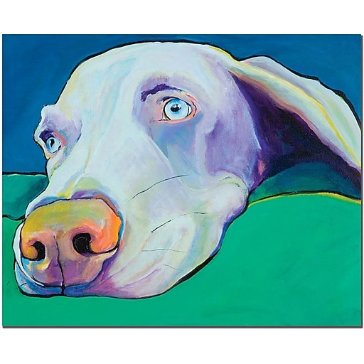 "Trademark Global Pat Saunders White ""Fritz"" Canvas Art, 18"" x 24"""