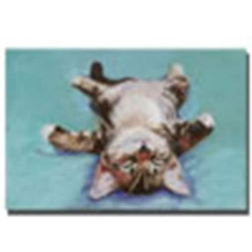 """Trademark Global Pat Saunders White """"Little Napper"""" Canvas Art, 16"""" x 24"""""""