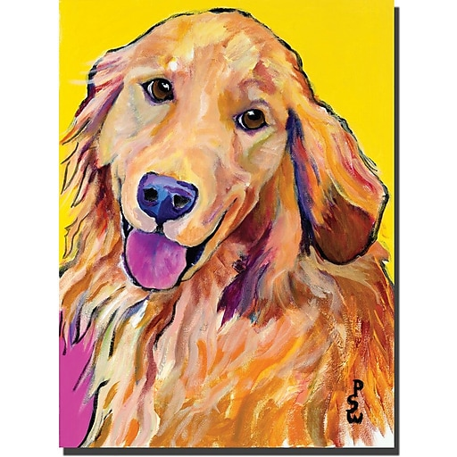 "Trademark Global Pat Saunders White ""Molly"" Canvas Art, 24"" x 18"""
