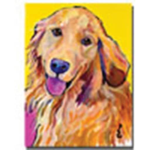 "Trademark Global Pat Saunders White ""Molly"" Canvas Art, 47"" x 35"""