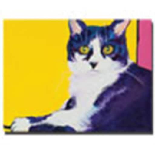 "Trademark Global Pat Saunders White ""Simon"" Canvas Art, 35"" x 47"""