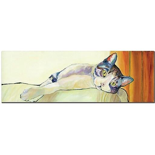 "Pat Saunders White ""Sunbather"" Canvas Art, 8"" x 24"""