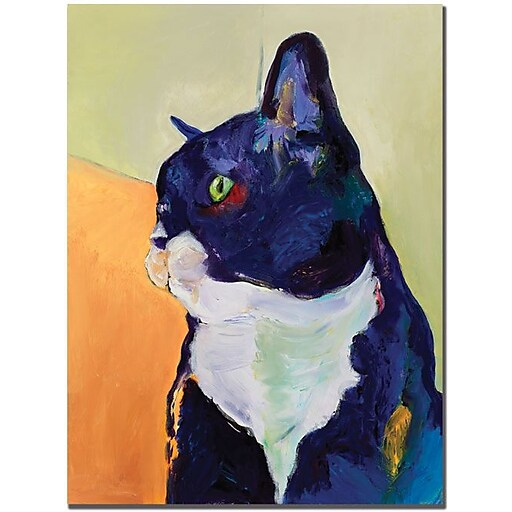 "Trademark Global Pat Saunders White ""Bird Watcher"" Canvas Art, 24"" x 18"""