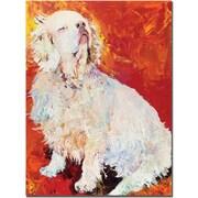 "Trademark Global Pat Saunders White ""I Refuse"" Canvas Art, 24"" x 18"""