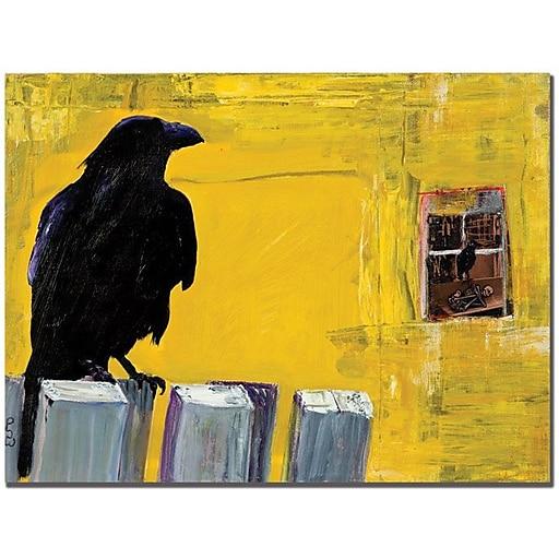 "Trademark Global Pat Saunders White ""Watching"" Canvas Art, 24"" x 32"""