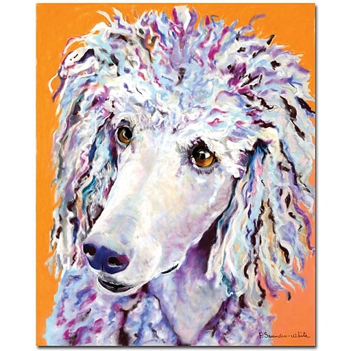 """Trademark Global Pat Saunders White """"Above the Standard"""" Canvas Art, 32"""" x 26"""""""