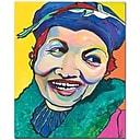 "Trademark Global Pat Saunders White ""Koko Vivienne"" Canvas Art, 47"" x 35"""