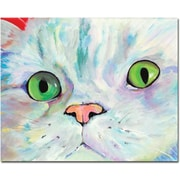 "Trademark Global Pat Saunders White ""Sweet Puss"" Canvas Art, 26"" x 32"""