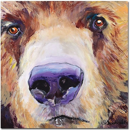 """Trademark Global Pat Saunders White """"The Sniffer"""" Canvas Art, 18"""" x 18"""""""