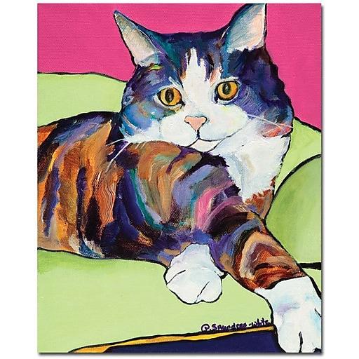 "Trademark Global Pat Saunders White ""Ursula"" Canvas Art, 32"" x 26"""