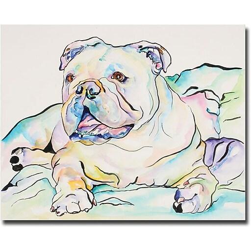 "Trademark Global Pat Saunders White ""Ophelia"" Canvas Art, 18"" x 24"""