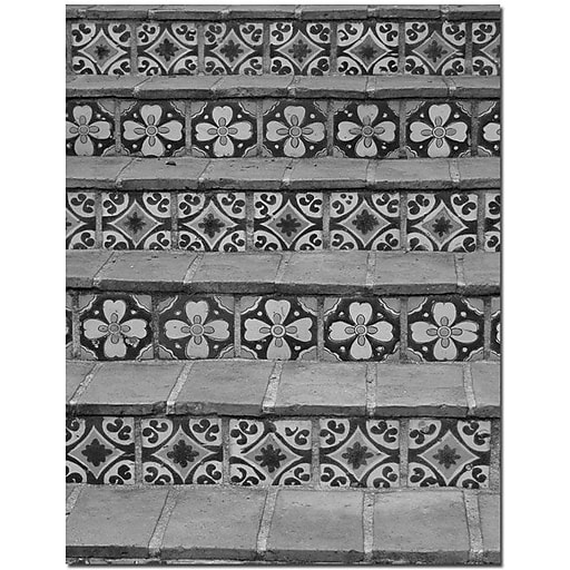"""Trademark Global Patty Tuggle """"Black and White Tiles"""" Canvas Art, 24"""" x 18"""""""