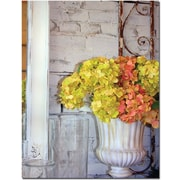 "Trademark Global Patty Tuggle ""Shabby Chic Flowers"" Canvas Art, 24"" x 18"""