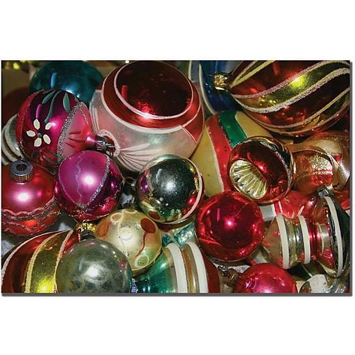"Trademark Global Patty Tuggle ""Old World Ornaments"" Canvas Art, 16"" x 24"""