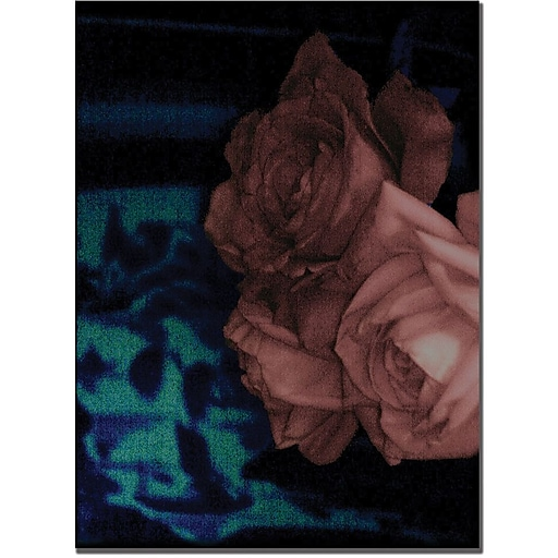 """Trademark Global Patty Tuggle """"Roses and Blue China"""" Canvas Art, 19"""" x 14"""""""