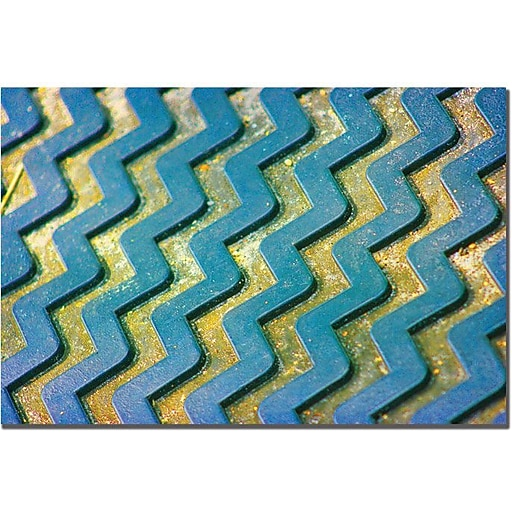 "Trademark Global Patty Tuggle ""Zigzag"" Canvas Art, 16"" x 24"""