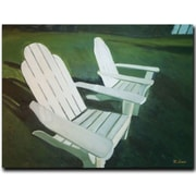 "Trademark Global Rickey Lewis ""Lawn Chairs"" Canvas Art, 18"" x 24"""