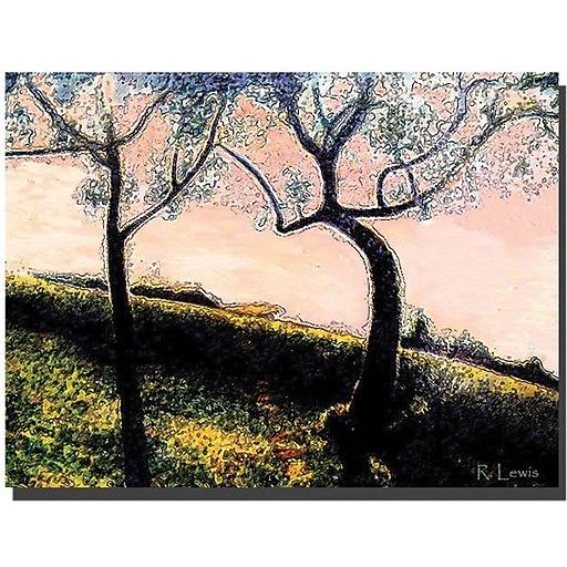 "Trademark Global Rickey Lewis ""Talking Trees"" Canvas Art, 18"" x 24"""
