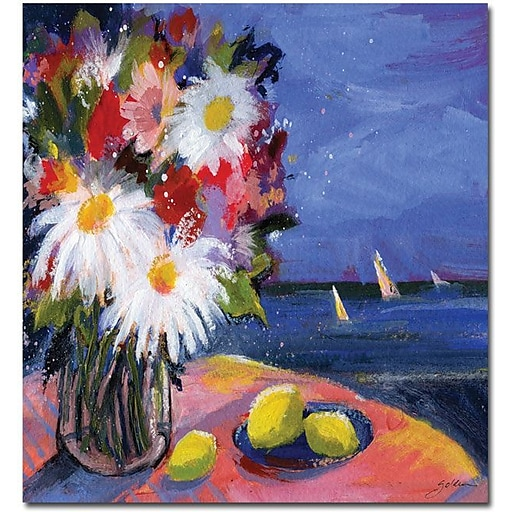 """Trademark Global Sheila Golden """"Out to Sea"""" Canvas Art, 32"""" x 24"""""""