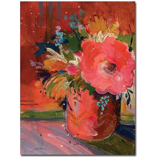"""Trademark Global Sheila Golden """"Coral Glitter"""" Canvas Art, 24"""" x 18"""""""