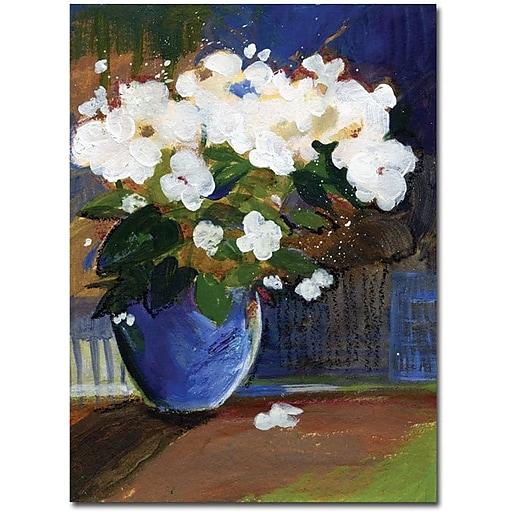 "Trademark Global Sheila Golden ""The Blossoming"" Canvas Art, 19"" x 14"""
