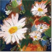 "Trademark Global Sheila Golden ""Daisy Splash"" Canvas Art, 24"" x 24"""