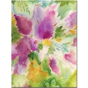 "Trademark Global Sheila Golden ""Lilacs Blossoming"" Canvas Art, 24"" x 18"""