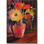 "Trademark Global Sheila Golden ""Orange Splash Bouquet"" Canvas Art, 47"" x 35"""