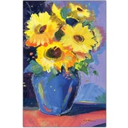 "Trademark Global Sheila Golden ""Sunflowers II"" Canvas Art, 19"" x 14"""
