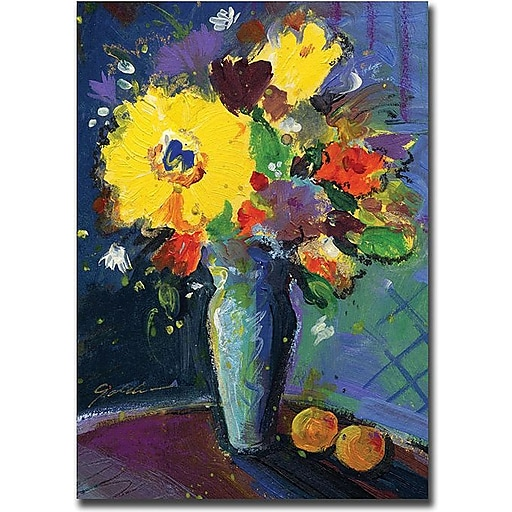"Trademark Global Sheila Golden ""Two Apricots"" Canvas Art, 32"" x 24"""
