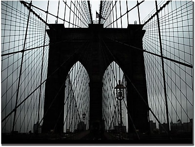 "Trademark Global Tammy Davison ""Brooklyn Bridge"" Canvas Art, 35"" x 47"""