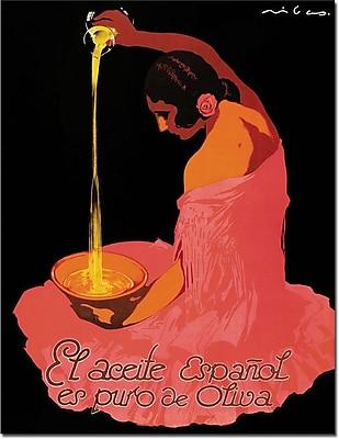 "Trademark Global ""Spanish Olive Oil"" Canvas Art, 47"" x 35"""