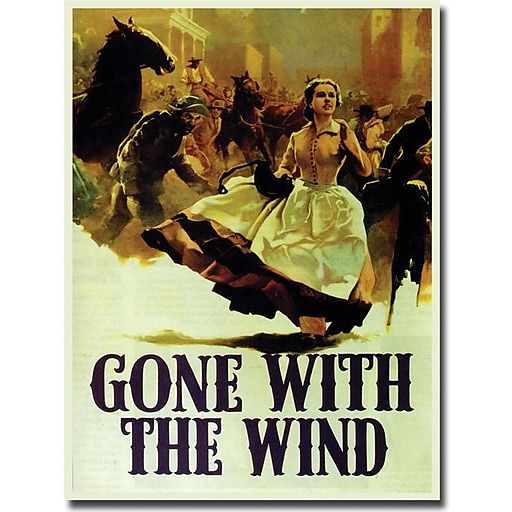 """Trademark Global """"Gone with the Wind"""" Canvas Art, 47"""" x 35"""""""