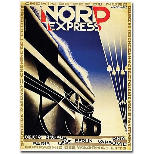 """Trademark Global Adolphe Cassandre """"Nord Express"""" Canvas Art, 24"""" x 18"""""""