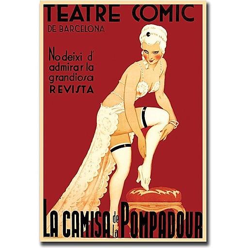 "Trademark Global ""Teatre Comic de Barcelona"" Canvas Art, 32"" x 26"""