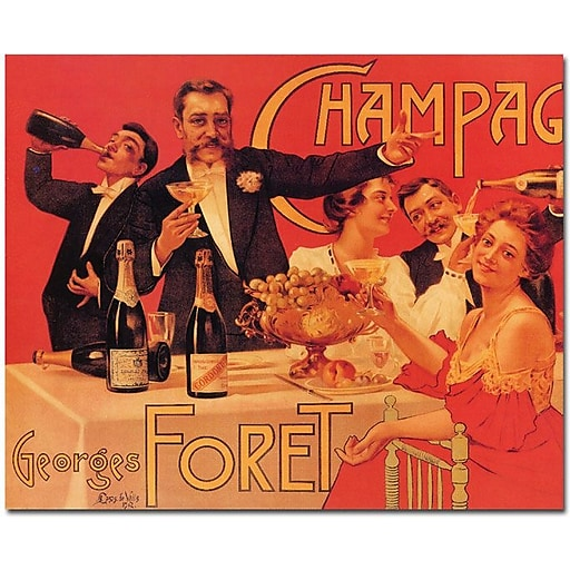 "Trademark Global Casas de Valls ""Champagne Georges Foret"" Canvas Art, 35"" x 47"""
