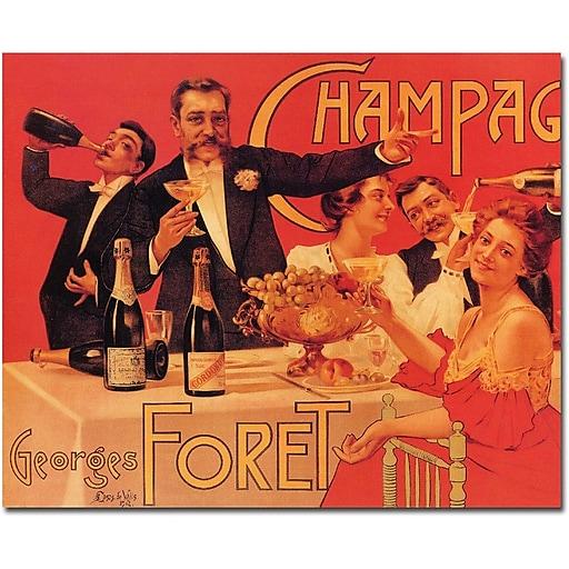"Trademark Global Casas de Valls ""Champagne Georges Foret"" Canvas Art, 36"" x 48"""