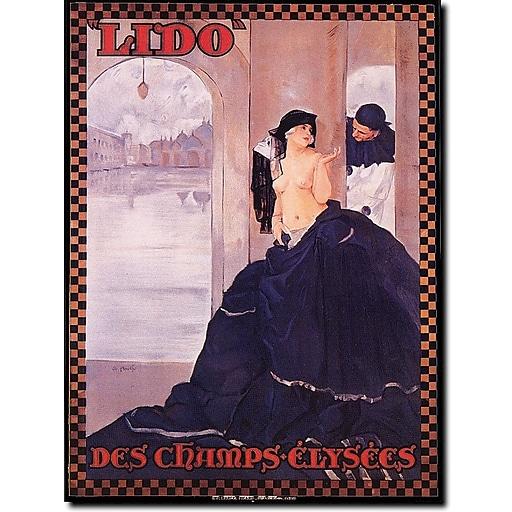 "Trademark Global ""Lido des Champs Elysees"" Canvas Art, 19"" x 14"""