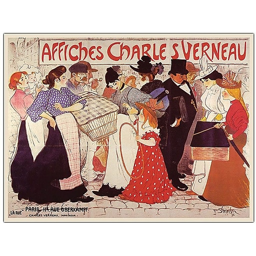 """Trademark Global Steinlen """"Affiches Charles Verneau"""" Canvas Art, 24"""" x 32"""""""