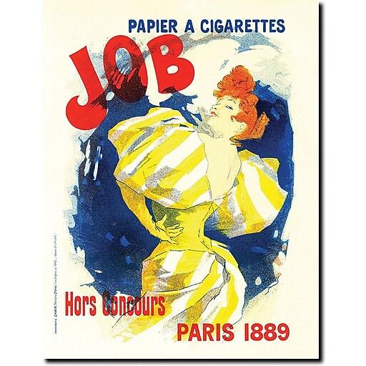 "Trademark Global Jules Cheret ""Papier a Cigarettes Job"" Canvas Art, 24"" x 18"""